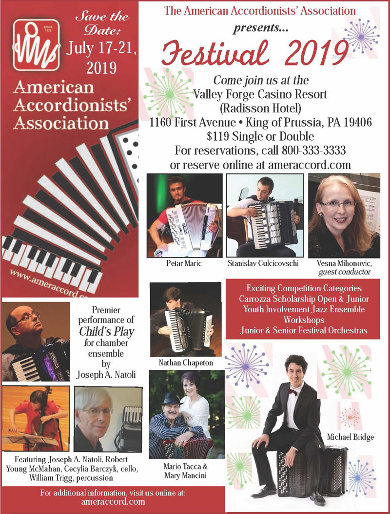 American Accordionists' Association AAA Annual Festival, July